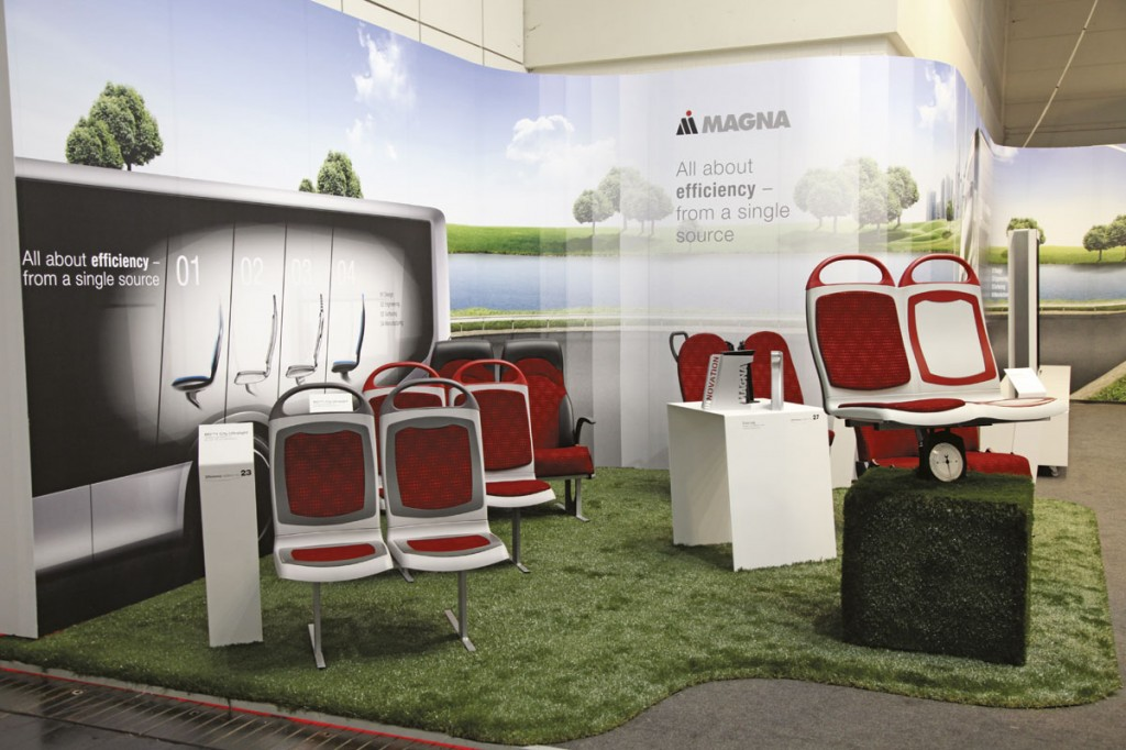 The Magna stand with lightweight MS1 City seats to the fore