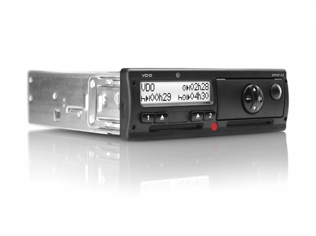 The VDO DTCO 2.0 tachograph unit from Continental