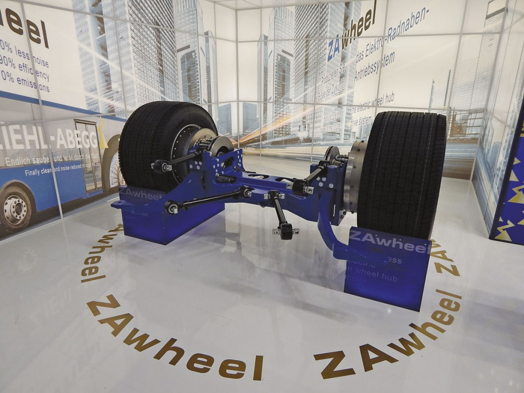 Ziehl-Abegg drive axle assembly with second generation ZA wheel