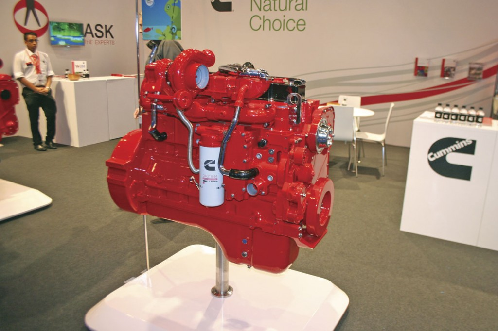 Cummins showed its Euro6 range of engines