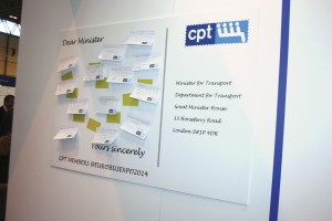 The 'Ask the Minister' board on CPT's stand