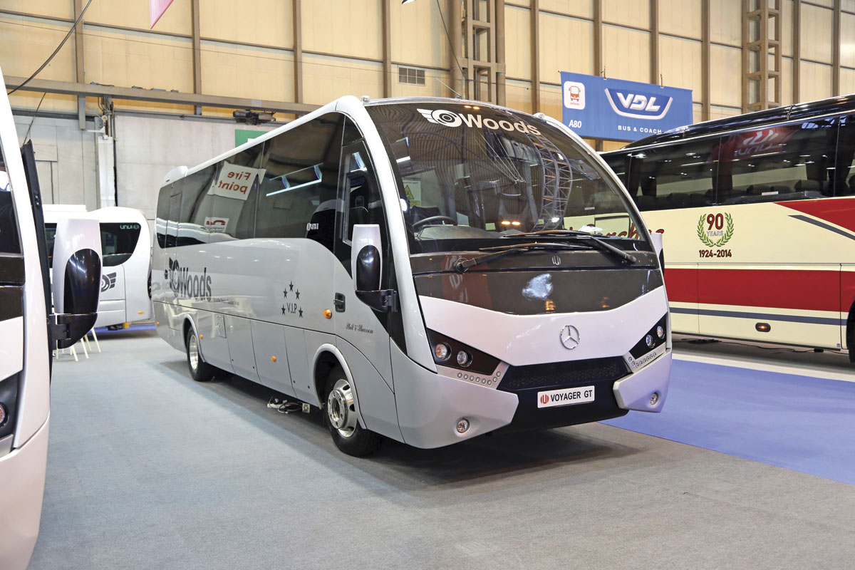 The Unvi Voyager GT 33 seater is based on the 10 tonne Mercedes-Benz Atego chassis