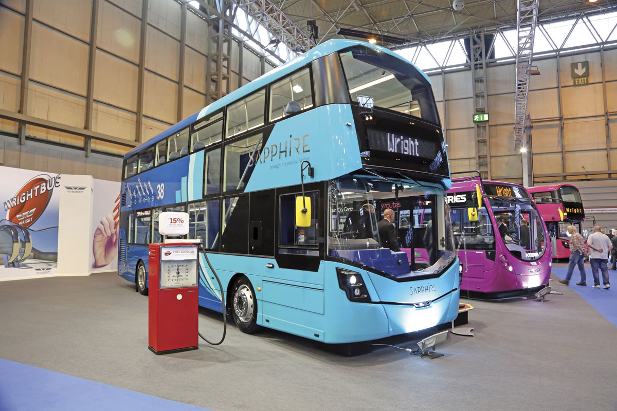 The integral Daimler powered StreetDeck double decker from Wrightbus