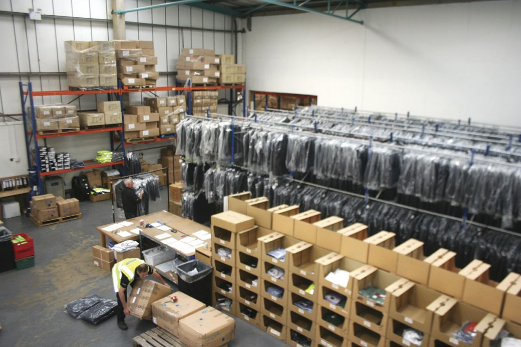 A part of the company's stock room