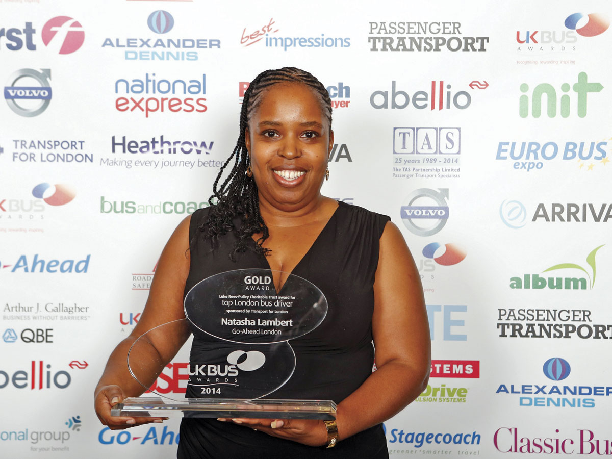 Go-Ahead driver Natasha Lambert was crowned 'Top London Bus Driver'