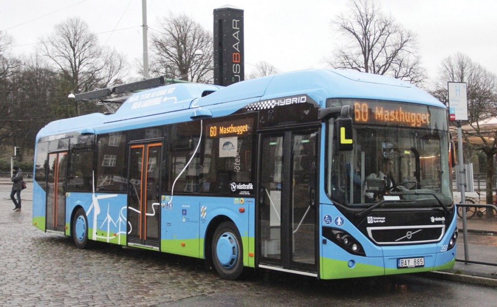 Gothenburg has been running three electric (plug-in) hybrids in service, one of which is continuing to operate. In June it will commence operating a mix of hybrid electric and full electric buses on a new route as part of the ElectriCity project