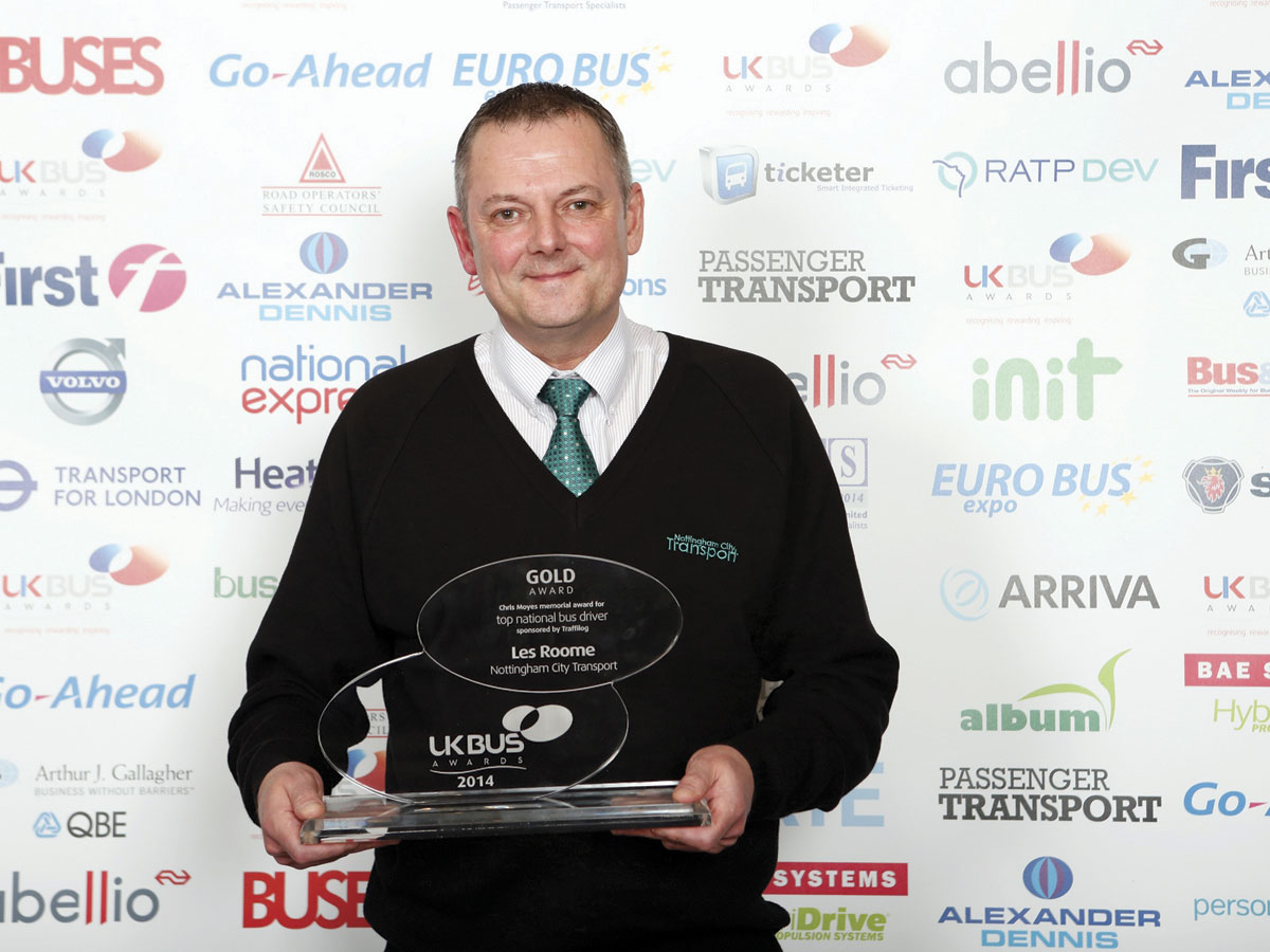 Les Roome, Nottinham City Transport is the 'Top National Driver'