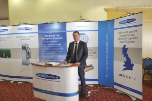 Martyn Gent, Sales & Marketing Director of Cameron Forecourt on his stand