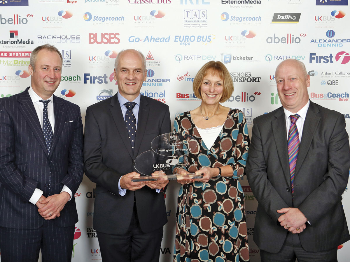 Nottinham City Transport, 'UK Operator of the Year' and 'Top City Operator'