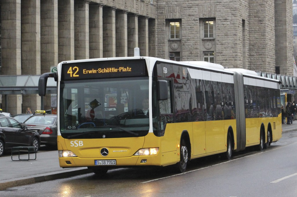 One of the original 19.54m long CapaCity Citaros operating in Stuttgart