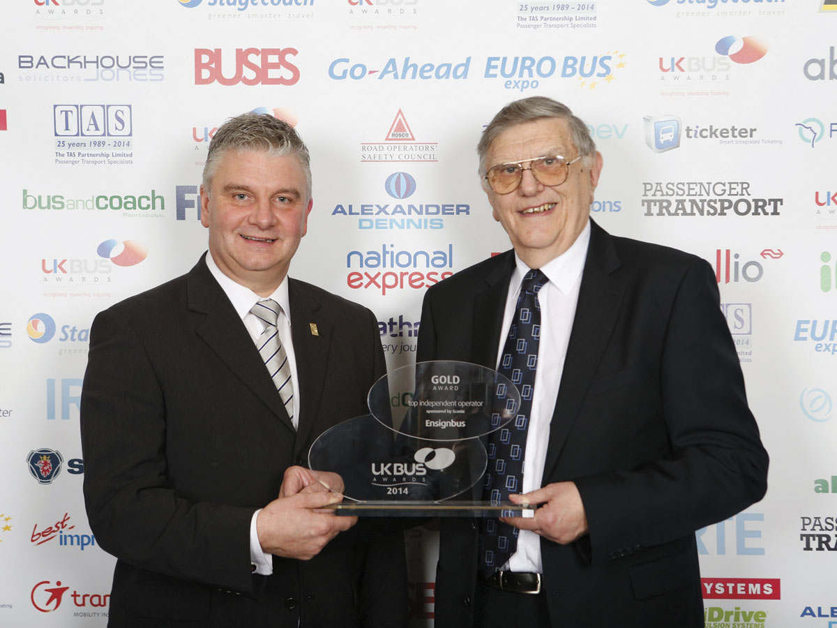 Peter Newman CEO of Ensignbus, this year's 'Top Independent Operator'
