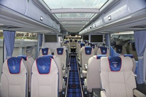The Van Hool TX17 Astron interior