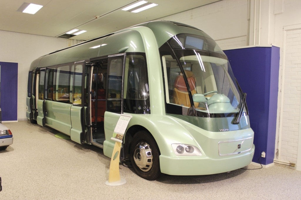 The Volvo Environmental Concept Bus of 1995. It was gas turbine powered and featured a central driving position with a whopping 8.4m wheelbase
