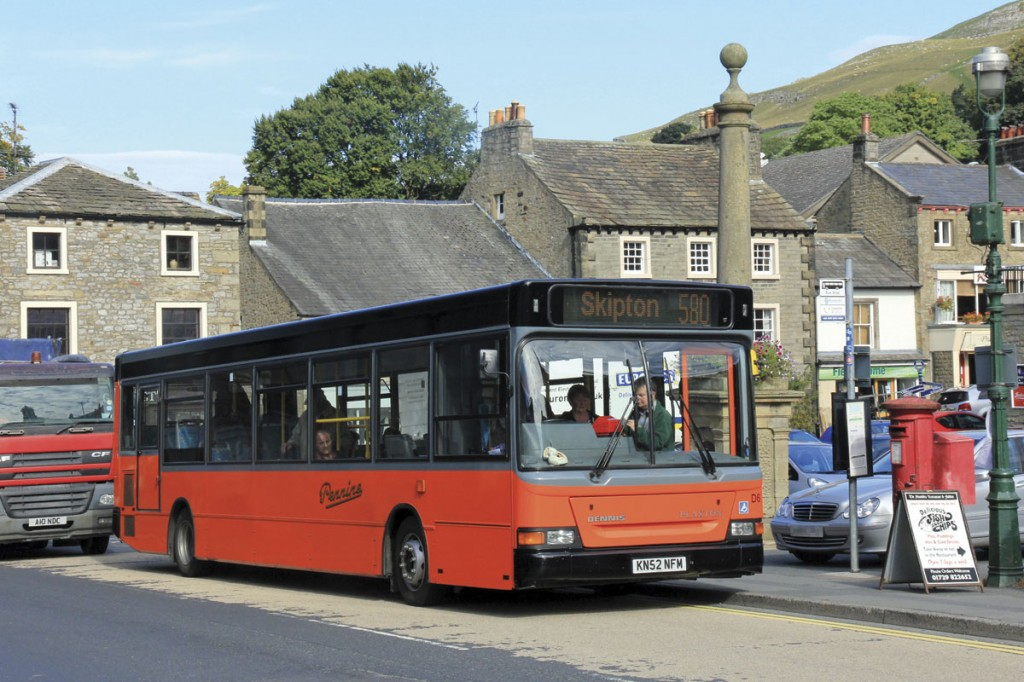 End of the road for the orange and black buses of Pennine Motor Services