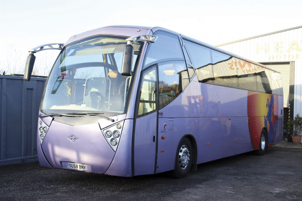 Heatons often have a full sized coach in stock. This 58-plate MAN-powered Ayats Atlantis had just been sold