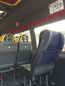 NMI's new Sit Safe child seat stowed and deployed