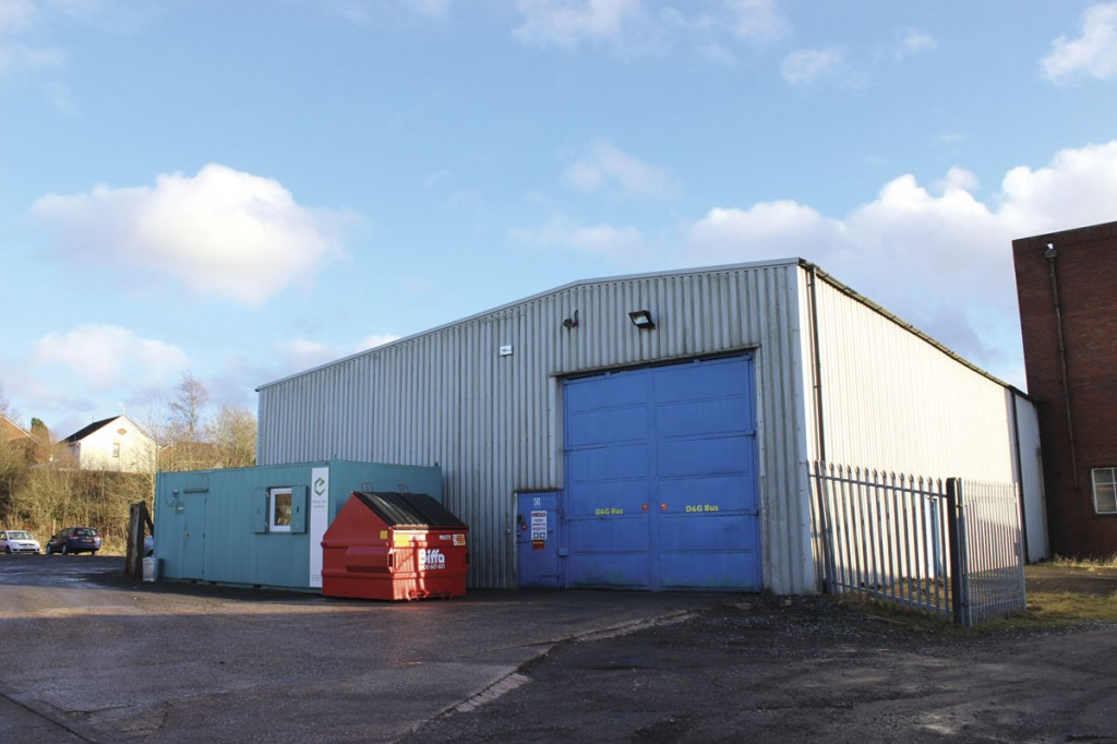 Only recently occupied, the new Potteries depot at Longton