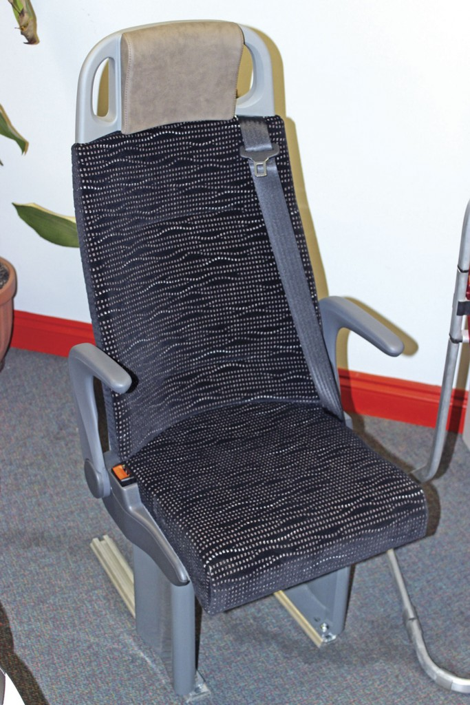 Politecnica designed the Arco seat for community transport, wheelchair accessible and school bus applications