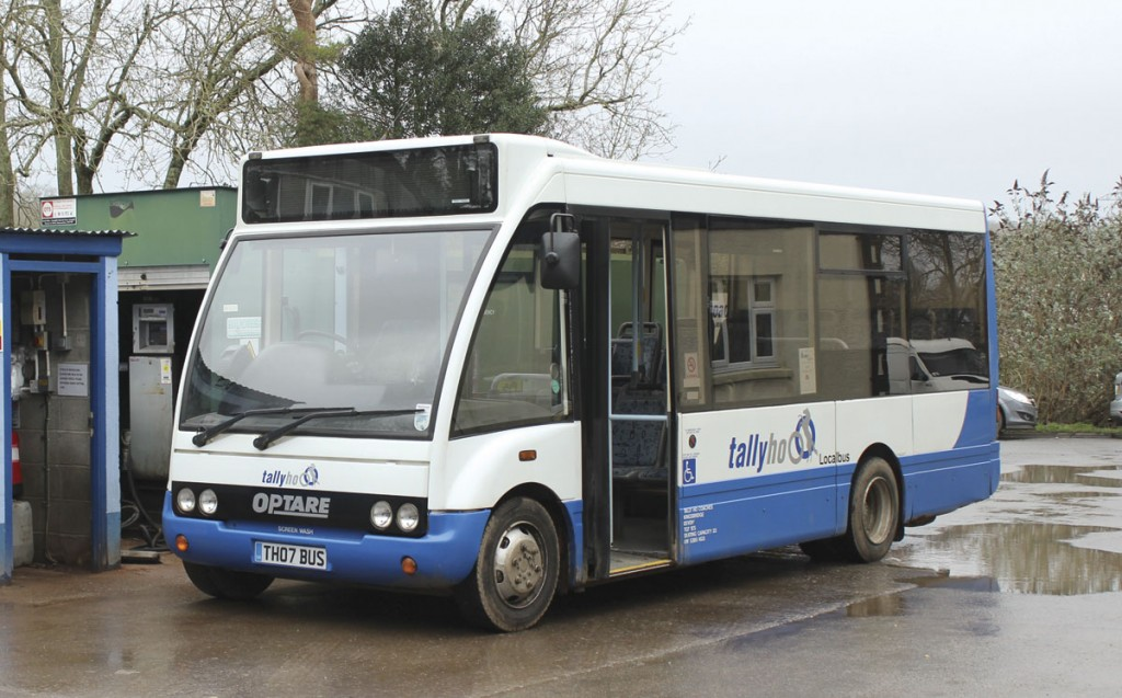 Slimline Optare Solos are ideal for bus services locally because of their narrow width. Keeping them clean is a demanding task