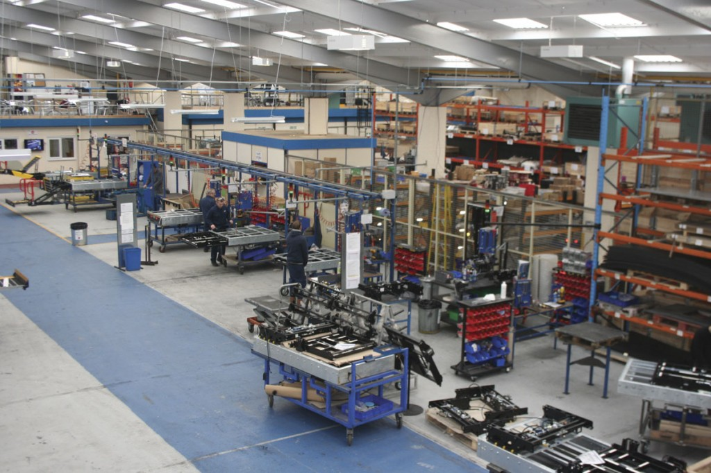 The assembly area of PLS's extensive workshop