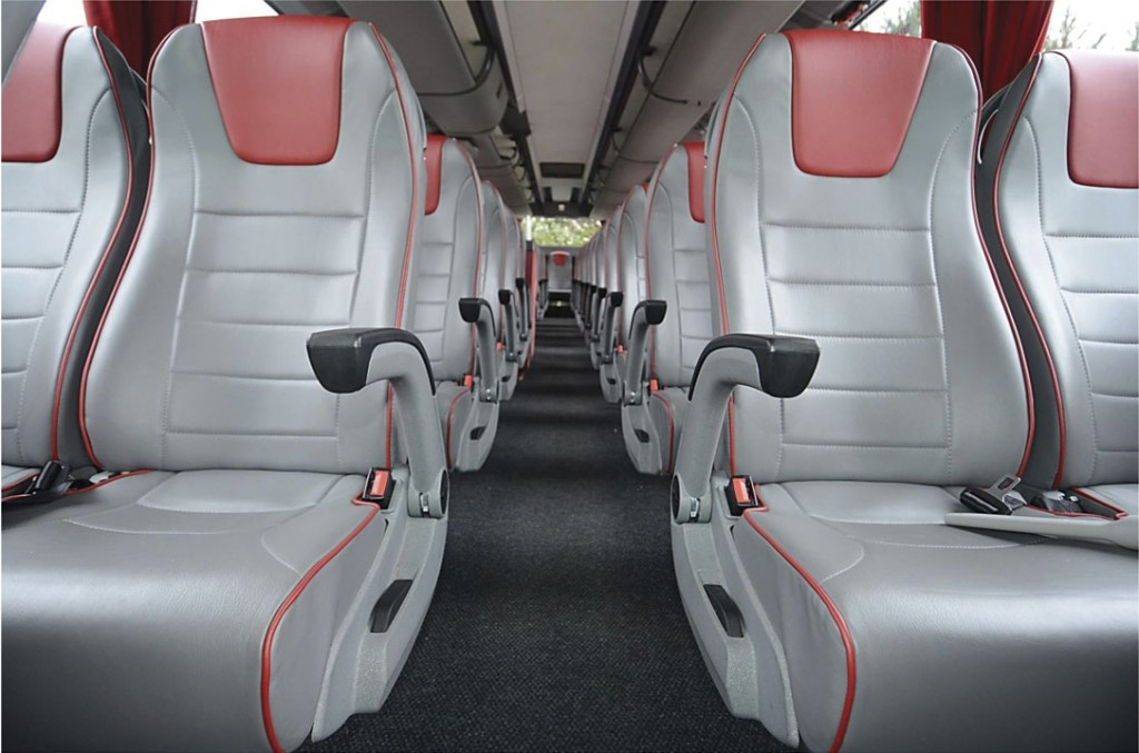 The interior of Barnes Travel's Futura Classic after a year of use