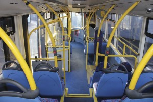 The interior of the Optare Tempo Hybrid