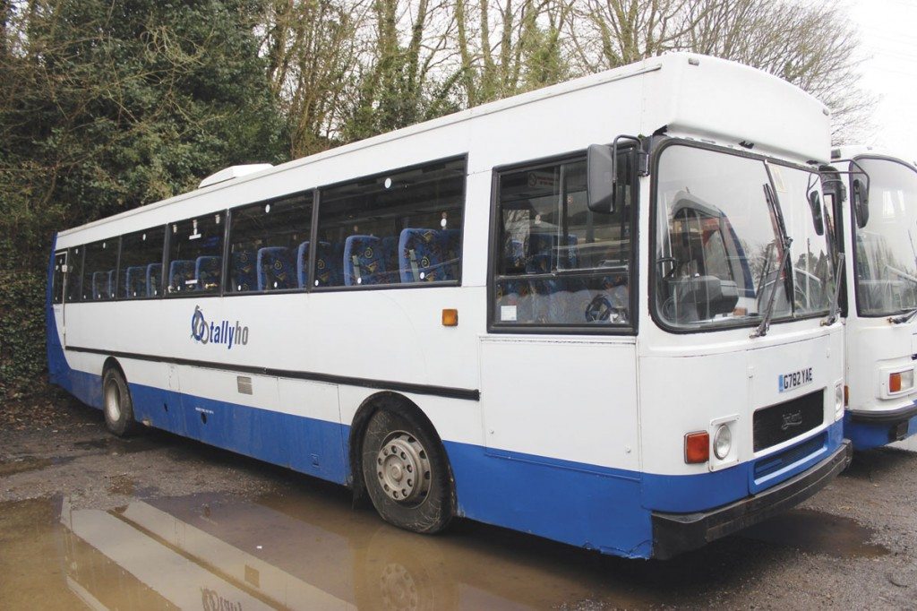 The only Leyland Tiger operating is the former MoD example with Plaxton Derwent 2000 body seating 70. It dates from 1989