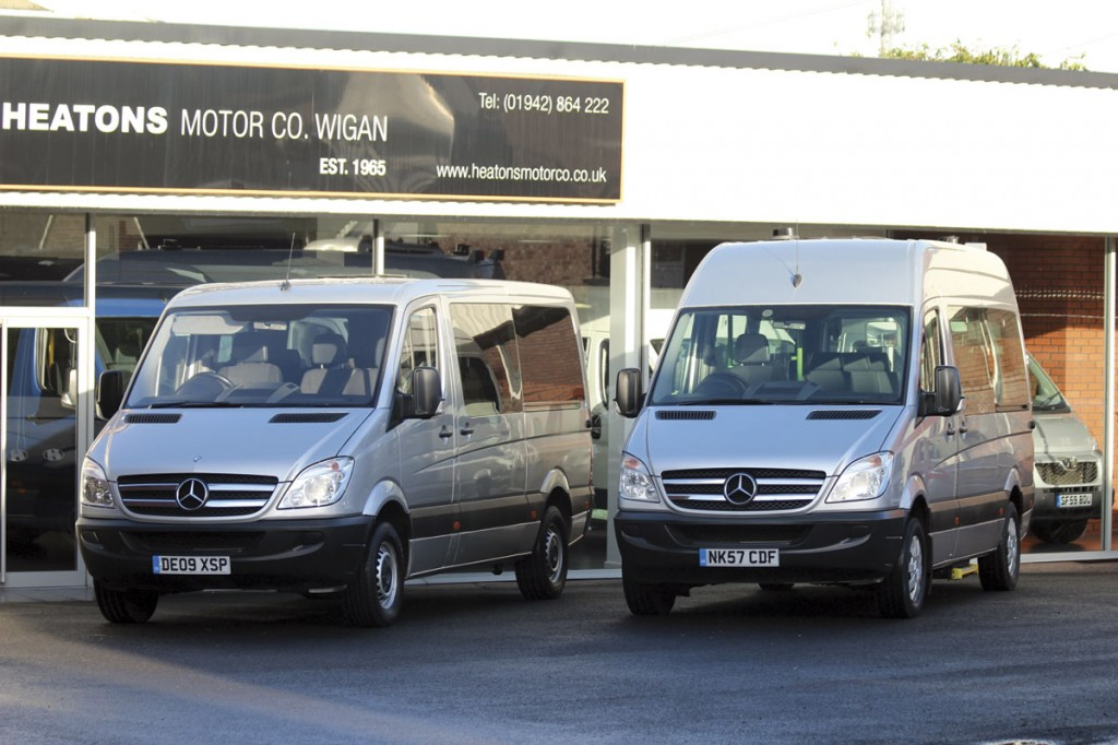 VIP Taxis Ltd of Marple, Stockport collected these two Mercedes-Benz Sprinter minicoaches