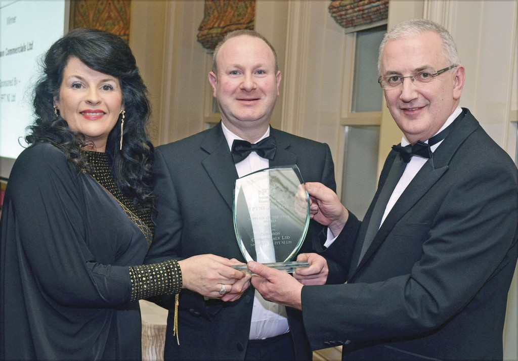 Alan Davidson, representing Logan's Executive Travel, receives the Judge's Special Award