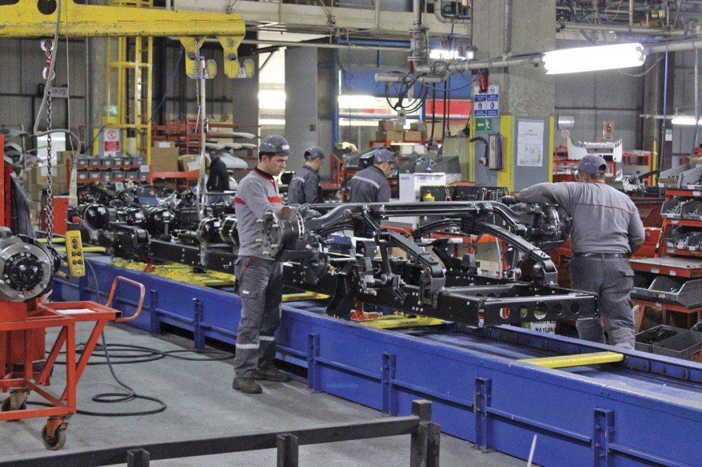 Chassis assembly for the Navigo and the Foton Atlas truck take place on the same line