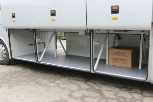 Luggage capacity in the TC12 is eight cubic metres with a centre toilet installed