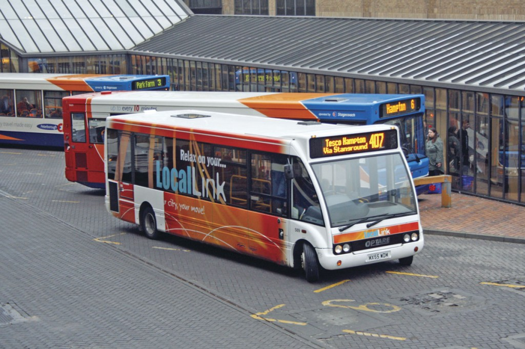 One of the Local Link services which operated throughout Peterborough until October 2013