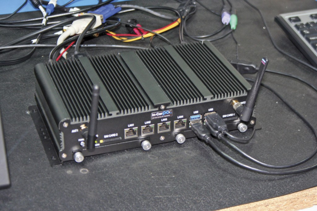 One of the PCs used by the company. Note the ridged shell, designed to help the system keep cool without a fan