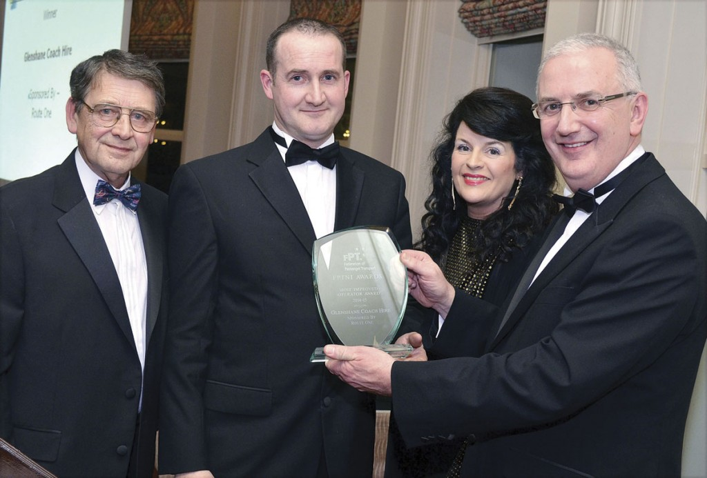 Rodney Gallagher of Glenshane Coaches receives the Most Improved Operator Award