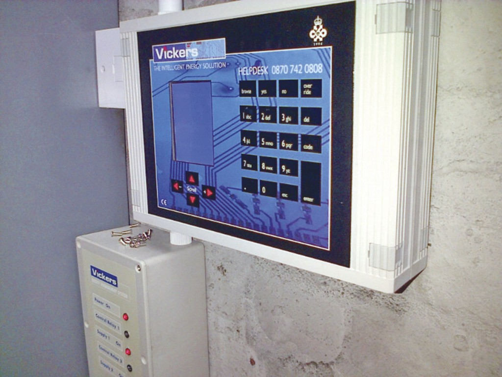 The control panel of one of Vickers' energy management systems (EMS)
