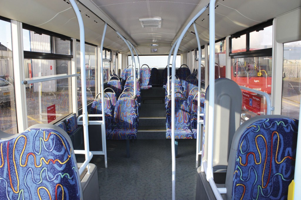 The interior of one of the Tempos