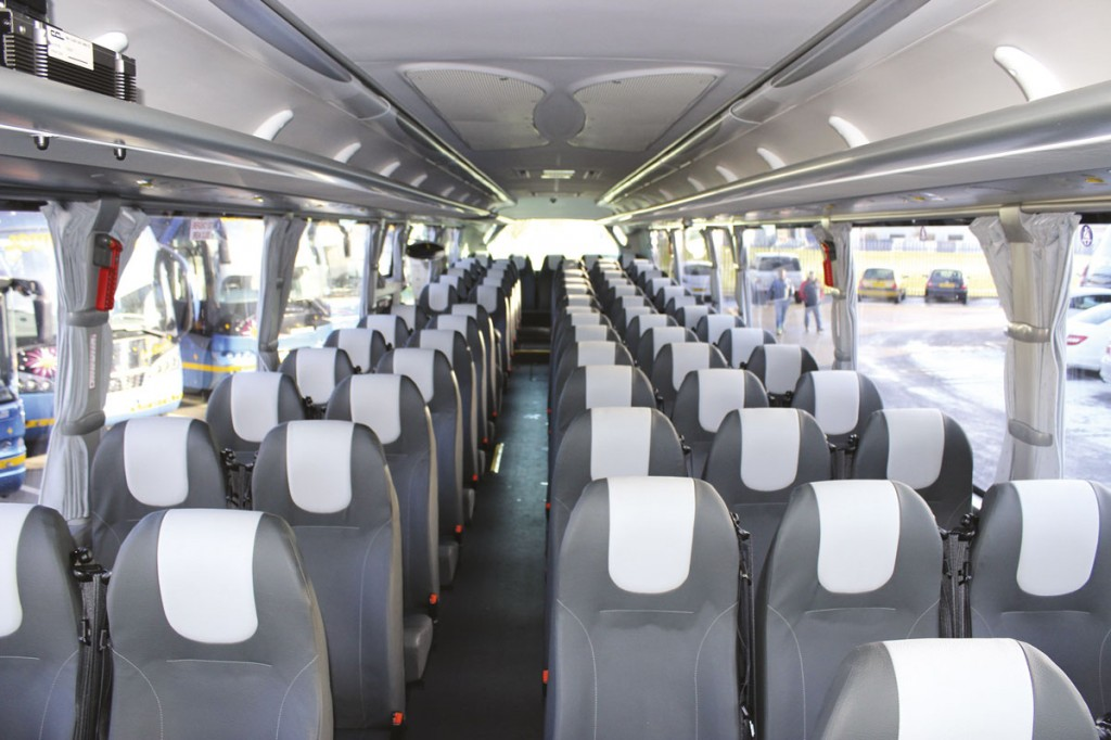 The interior of the i4 for Clarkes of London featuring 70 Prime Buckingham 3+2 seats