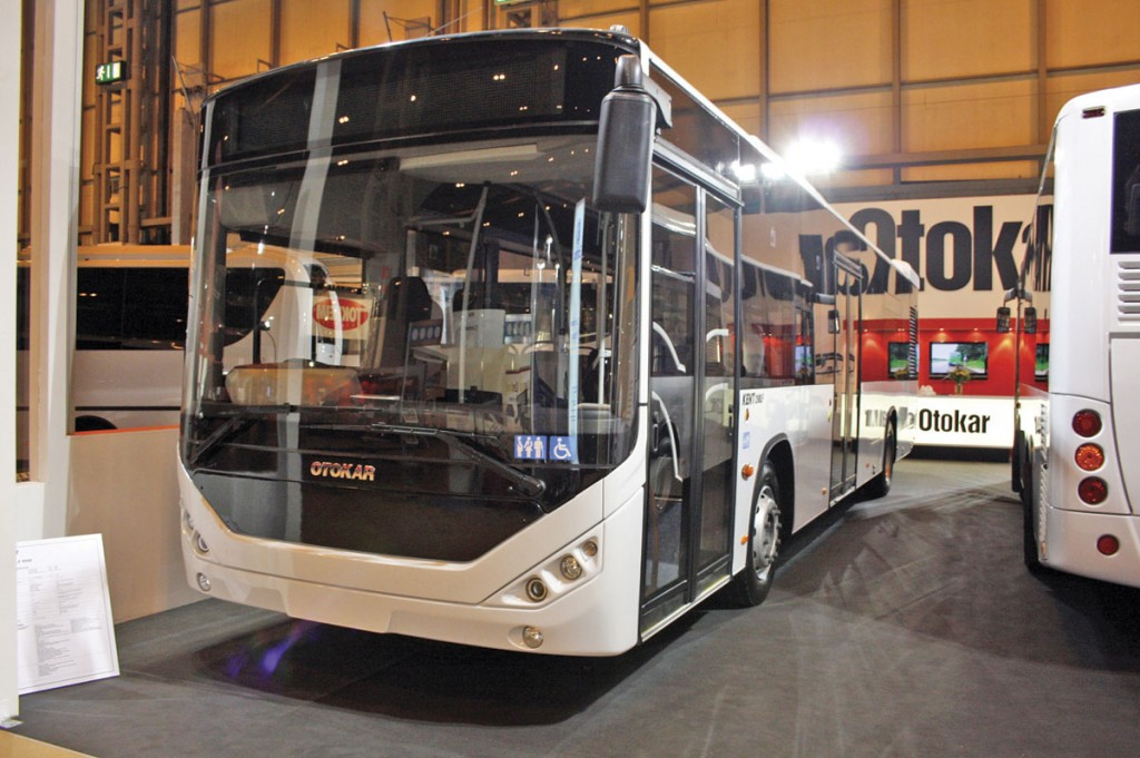 This right hand drive, two door, Otokar Kent 12m city bus appeared at the 2010 Euro Bus Expo exhibition
