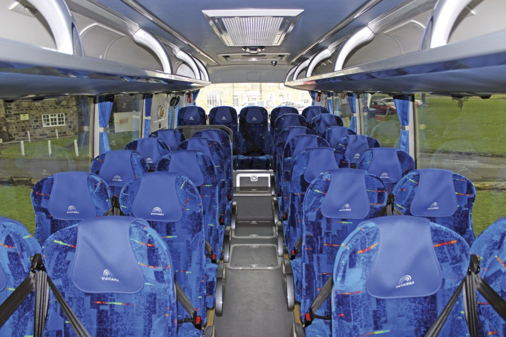 Up to 35 seats can be accommodated in a TC9 without toilet