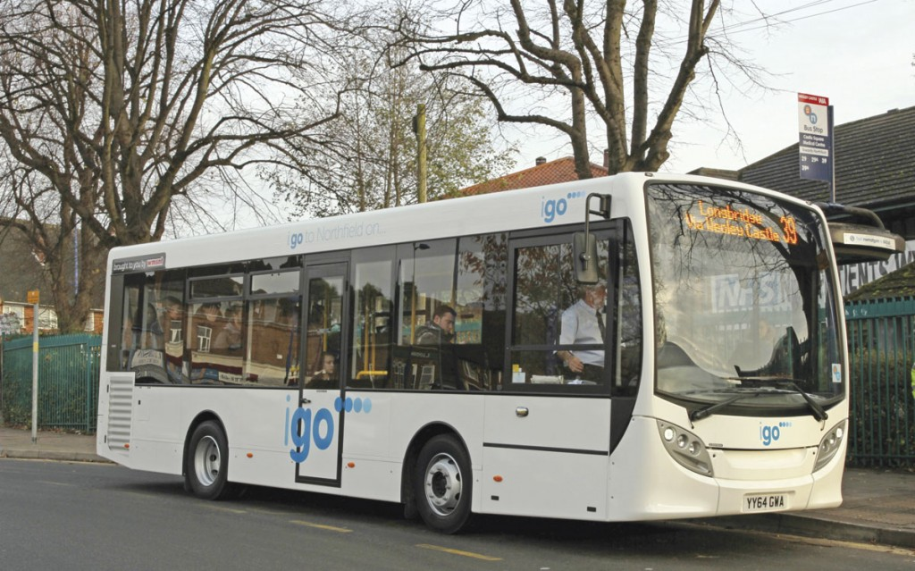 A rental ADL Enviro 200 in service in Northfield, Birmingham