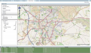 An example of one of Vix's Horizon vehicle tracking screens