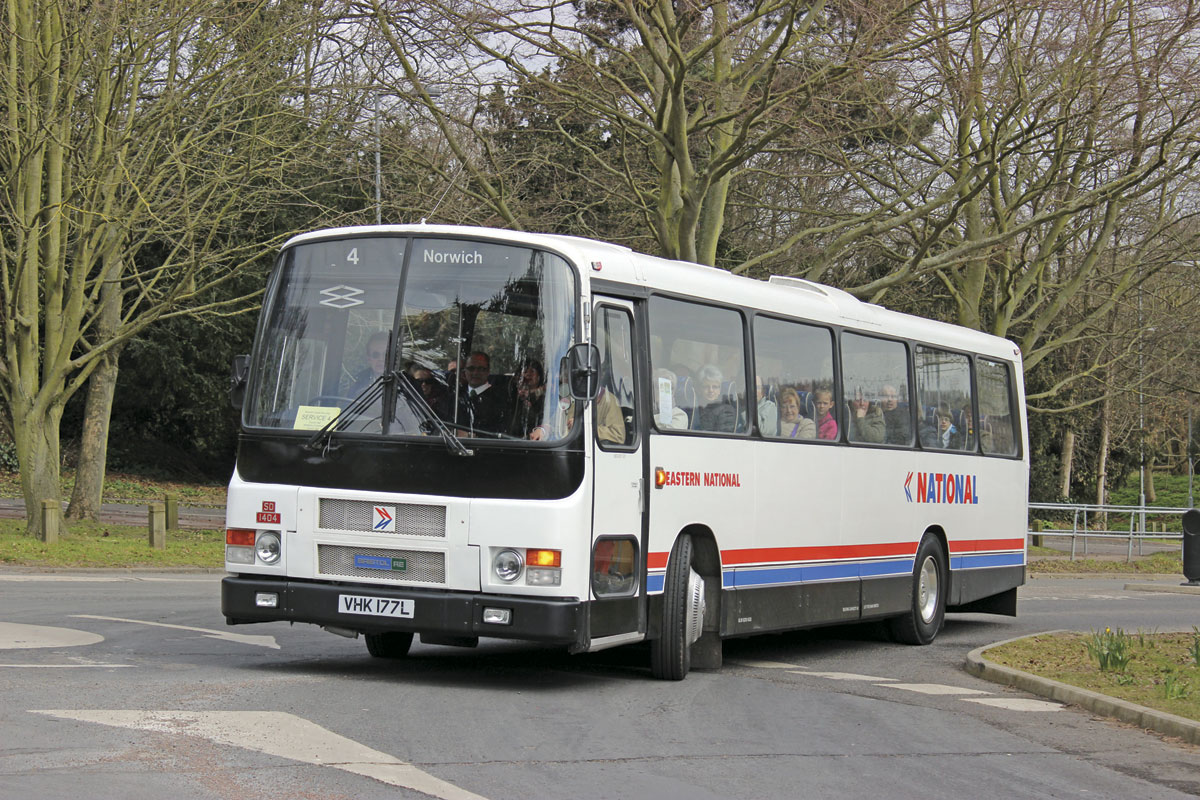 Bristol RELH in Eastern National/NBC livery