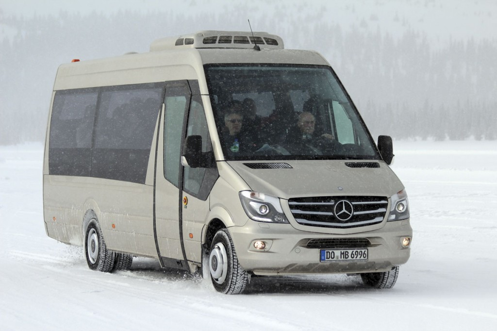 Daimler Buses works closely with Mercedes-Benz vans in the development of the Dortmund converted Sprinter Travel 65. It is not yet offered in the UK although the Travel 45 version is