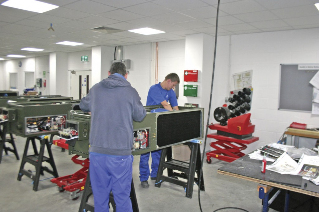 Further assembly of an air conditioning system
