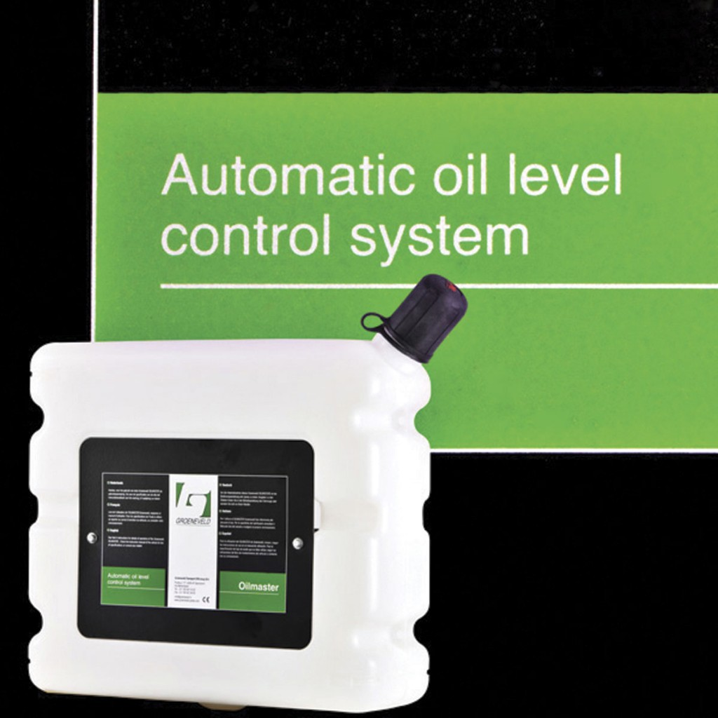 Groeneveld's Oilmaster system can be used to ensure oil levels are at optimum levels, therefore helping the vehicle run efficiently and greenly