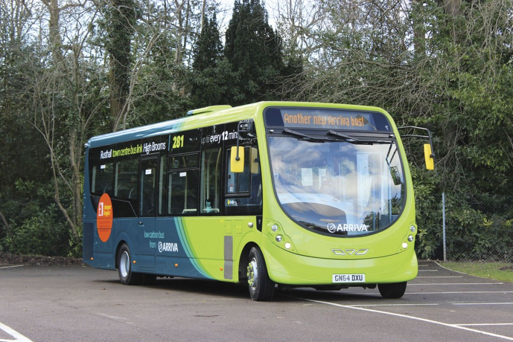 In Arriva's latest eco livery the colours applied to the StreetLites will set them apart from other buses in the region