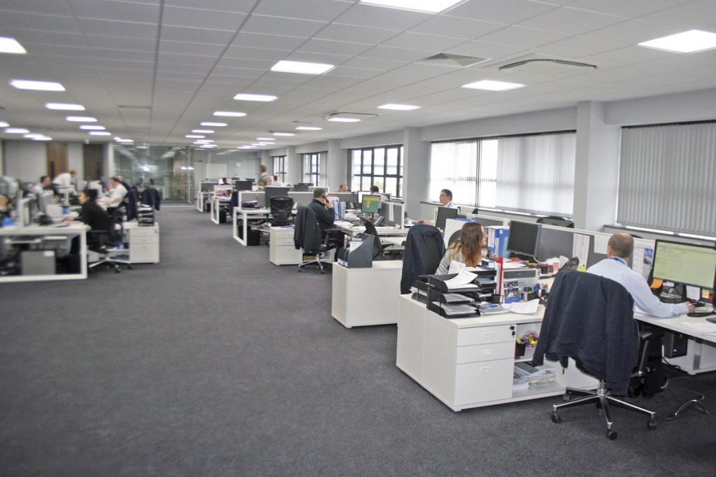 Inside the offices of Eberspächer's new headquarters