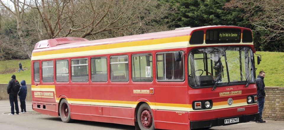 Leyland National which is now in Eastern Counties livery