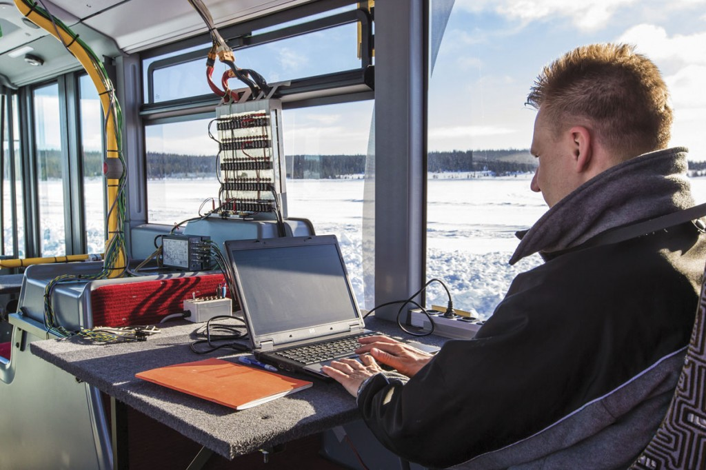 Several of the vehicles carried extensive on board technical monitoring equipment. Installing and preparing this takes several weeks prior to the vehicles setting off under their own power on the drive from Germany to Sweden