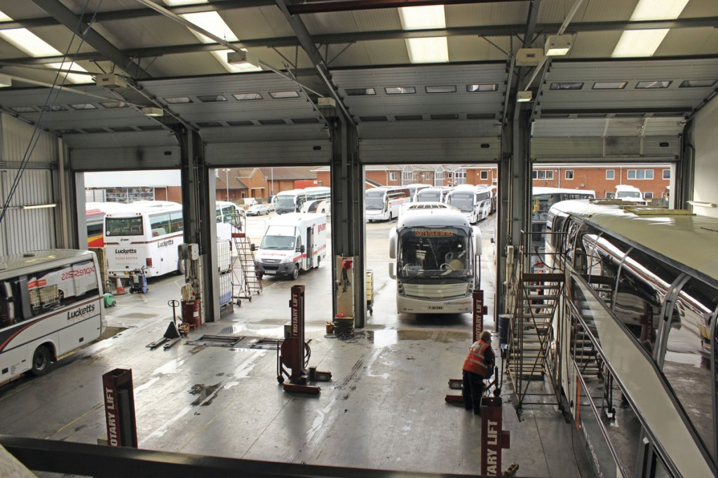 The four bay workshop at Fareham
